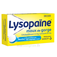 LysopaÏne Comprimés à Sucer Maux De Gorge Sans Sucre 2t/18 à YZEURE