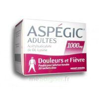 ASPEGIC ADULTES 1000 mg, poudre pour solution buvable en sachet-dose 20 à YZEURE