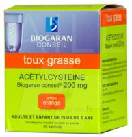 ACETYLCYSTEINE BIOGARAN CONSEIL 200 mg Pdr sol buv en sachet B/20 à YZEURE