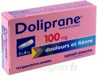 DOLIPRANE 100 mg Suppositoires sécables 2Plq/5 (10) à YZEURE