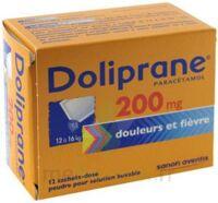 DOLIPRANE 200 mg Poudre pour solution buvable en sachet-dose B/12 à YZEURE