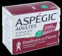 ASPEGIC ADULTES 1000 mg, poudre pour solution buvable en sachet-dose 30 à YZEURE