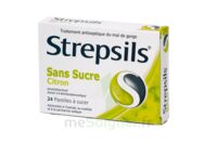 STREPSILS CITRON SANS SUCRE, pastille édulcorée à l'isomalt, au maltitol et à la saccharine sodique à YZEURE