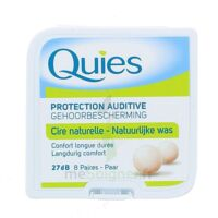 QUIES PROTECTION AUDITIVE CIRE NATURELLE 8 PAIRES à YZEURE