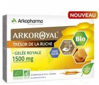 Arkoroyal Gelée Royale Bio Sans Sucre 1500mg Solution Buvable 20 Ampoules/10ml à YZEURE