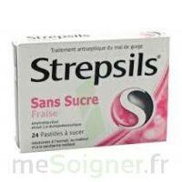Strepsils Fraise Sans Sucre, Pastille édulcorée à L'isomalt, Au Maltitol Et à La Saccharine Sodique à YZEURE