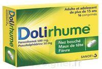 DOLIRHUME PARACETAMOL ET PSEUDOEPHEDRINE 500 mg/30 mg, comprimé à YZEURE