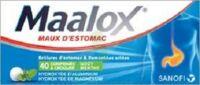 MAALOX HYDROXYDE D'ALUMINIUM/HYDROXYDE DE MAGNESIUM 400 mg/400 mg Cpr à croquer maux d'estomac Plq/40 à YZEURE