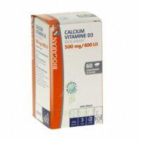 CALCIUM VITAMINE D3 BIOGARAN 500 mg/400 UI, comprimé à sucer à YZEURE