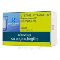 CYSTINE/VITAMINE B6 BIOGARAN CONSEIL 500 mg/50 mg Cpr pell Plq/120 à YZEURE