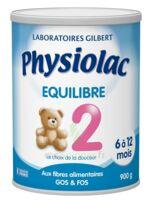 PHYSIOLAC EQUILIBRE 2 Lait pdre B/900g à YZEURE