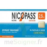 Nicopass 2,5 mg Pastille menthe fraîcheur sans sucre Plq/36 à YZEURE