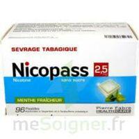 Nicopass 2,5 mg Pastille menthe fraîcheur sans sucre Plq/96 à YZEURE
