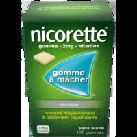 NICORETTE 2 mg Gom à mâcher médic sans sucre menthe fraîche Plq/105gom à YZEURE