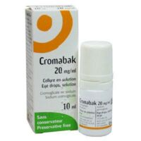CROMABAK 20 mg/ml, collyre en solution à YZEURE