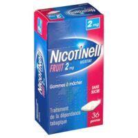 NICOTINELL FRUIT 2 mg SANS SUCRE, gomme à mâcher médicamenteuse Plaq/36gom à YZEURE