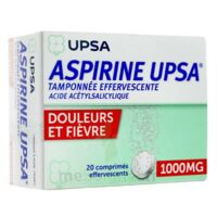 ASPIRINE UPSA TAMPONNEE EFFERVESCENTE 1000 mg, comprimé effervescent à YZEURE