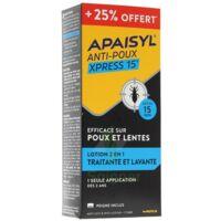 Apaisyl anti-poux Xpress 15' 250ml _ 25% offert à YZEURE