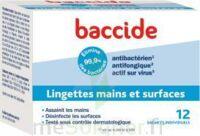 Baccide Lingette désinfectante mains & surface 12 Pochettes à YZEURE