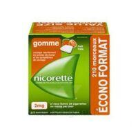 Nicorette 2 Mg Gomme à Mâcher Médicamenteuse Sans Sucre Fruits Plq/210 à YZEURE