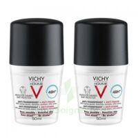 Vichy Homme Déodorant anti-transpirant anti trace 48H 2*Billes/50ml à YZEURE