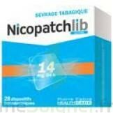 NICOPATCHLIB 14 mg/24 h Dispositifs transdermiques B/7 à YZEURE