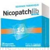 NICOPATCHLIB 14 mg/24 h Dispositifs transdermiques B/28 à YZEURE