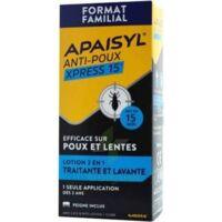 Apaisyl Anti-poux Xpress 15' Lotion antipoux et lente 100ml+peigne à YZEURE