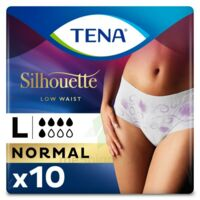 Tena Lady Silhouette Slip Absorbant Blanc Normal Large Paquet/10 à YZEURE