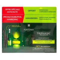 René Furterer Triphasic Progressive Sérum Antichute Coffret 8 Flacons X 5,5ml + Shampoing Stimulant 100 Ml à YZEURE